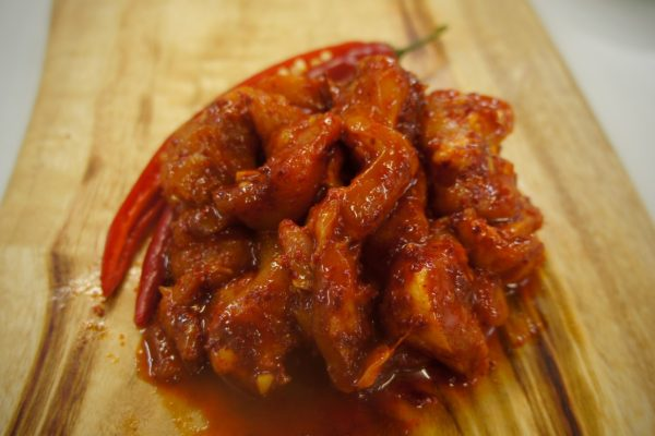 Side View of Chilli Chicken