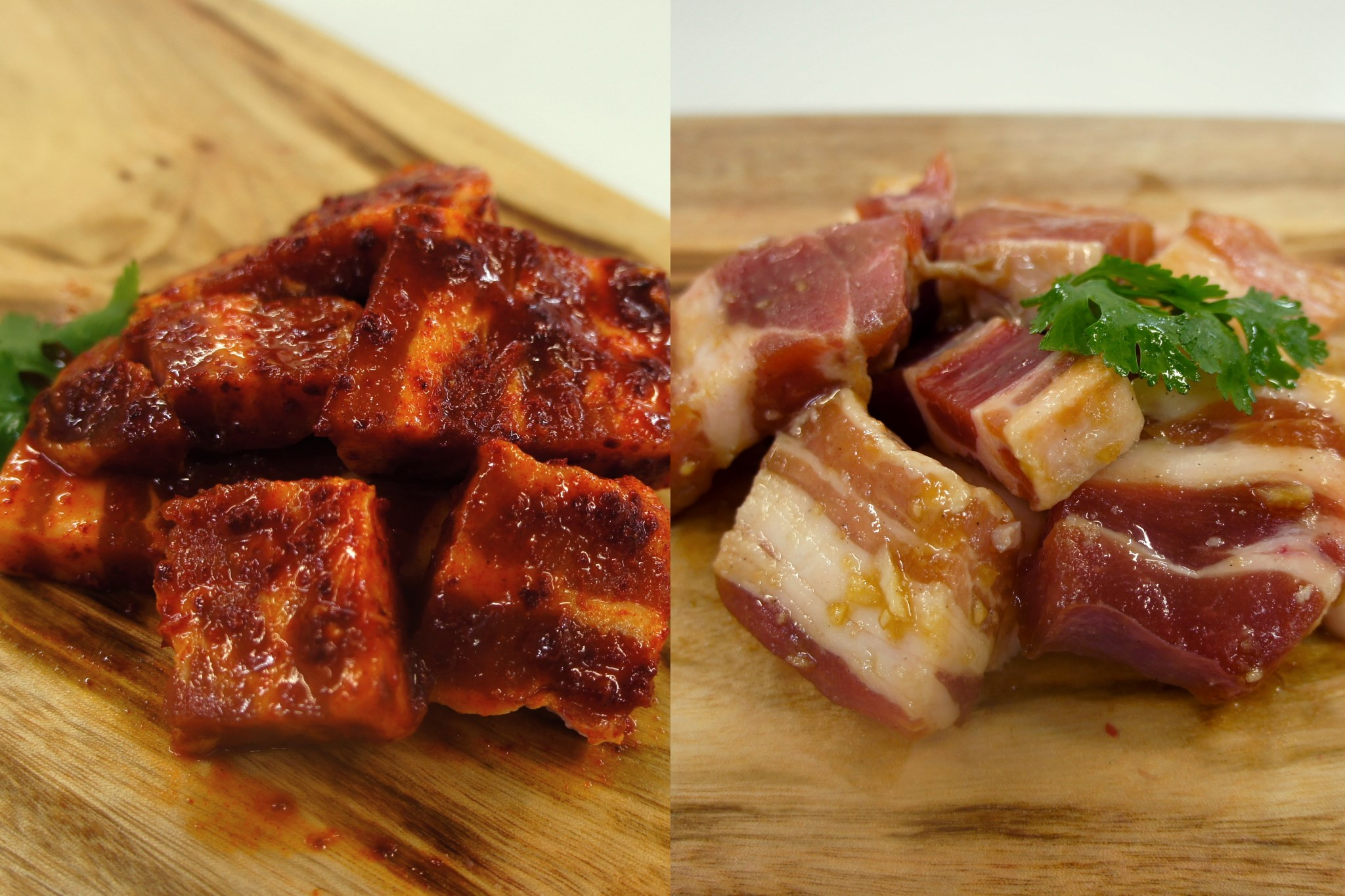 Chilli Pork Belly & Soy Pork Belly