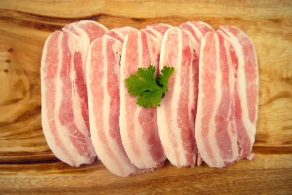 Top View of Frozen Pork Belly
