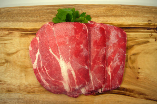 Top View of Sliced Beef