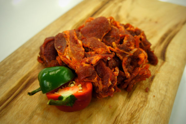 Side View of Spicy Pork Bulgogi